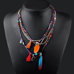 AandC Fashion Bohemia Peacock Feather Pendant Necklace Jewelry for Women, Hot Sell Indiana Feather Torque for Girls. *** Quickly view this special  product, click the image : Makeup Sets