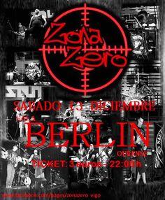 ZONA ZERO Sábado 13 de Diciembre  Entrada Única 3€ | 22:00h  Banda de metal fusión que nace en Vigo a finales del año 2001.
