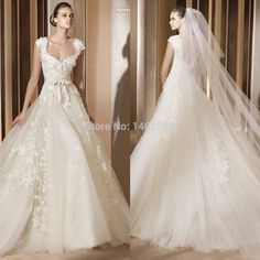 ivory wedding dresses with cap sleeves - Google Search