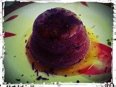 The White Truffle: Cuore morbido al cioccolato fondente su salsina all'arancia e cannella
