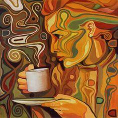Pintura y cafe