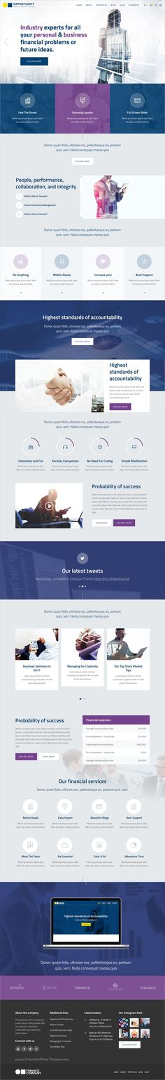 Opportunity is a professionally design responsive #WordPress theme for #consulting and finance #business websites with 9 niche homepage layouts download now➩   https://themeforest.net/item/opportunity-a-corporate-business-wp-theme/13567040?ref=Datasata
