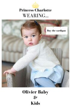 Princess Charlotte wearing the Cream Rose Stitch Cardigan by Olivier Baby and Kids