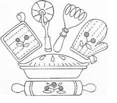 Artesanato e Cia : Riscos (moldes) para copa/cozinha ( patchcolagem)