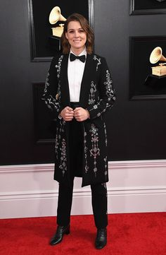 Brandi Carlile's Grammys Look Is Inspired by the Hall of Mirrors at the Palace of Versailles | Hollywood Reporter Meghan Trainor, Ricky Martin, Chris Cornell, Diana Ross, Backstreet Boys, Celebrity Look, Celebrity Dresses, Shawn Mendes, Amy
