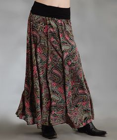 Take a look at this Black Paisley Plus-Size Maxi Skirt by Roper on #zulily today!
