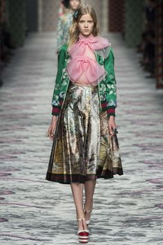 Gucci Spring 2016 Ready-to-Wear Fashion Show - Kadri Vahersalu  ------------------ ------------- -------------------  Not something I would see myself wearing (even if I had the money), but so endearingly crazy and fun like the whole Gucci collection!