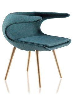 #Armchair in a #wavy #dsign // #Sessel in einem #geschwungenen #Design