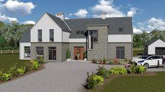 mod057 Square House Plans, Metal House Plans, Dream House Plans, Bungalow Haus Design, Cottage Design, Style At Home, 2 Story House Design, House Designs Ireland, House Plans South Africa