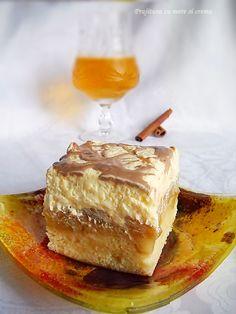 Prajitura cu Mere si Crema Romanian Desserts, Russian Desserts, Romanian Food, Sweets Recipes, My Recipes, Favorite Recipes, Dessert Drinks, Foods To Eat, Pinterest Recipes