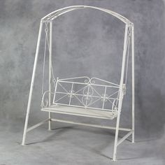 Vintage white metal swing | the only reason this one isn't perfect is because is one piece, instead of two separated swings xx