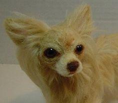 Custom Chihuahua dog doll needle felted soft  sculpture Pet portrait by FeltDoggy on Etsy https://www.etsy.com/uk/listing/151651290/custom-chihuahua-dog-doll-needle-felted