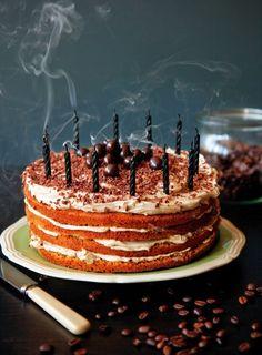 Tiramisu Birthday Cake - I think I'll make this for me on my birthday!