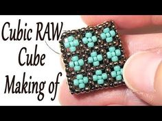 Beading making of - Cubic RAW Cube with beads - The first side - YouTube