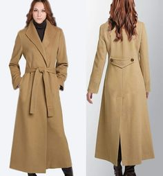 eee830adc42 Women winter wool long coat Camel cashmere coat Slim Turn-down Collar lady  lengthen trench coat plus size Thanks Mamaw