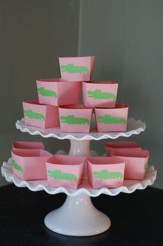 Pink Alligator Candy Cups Alligator Theme Alligator by GiggleBees, $12.00