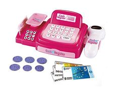 Pretend Play Electronic Cash Register Toy Realistic Actions and Sounds -- Check out this great product.