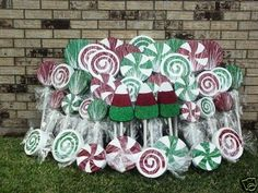 Outdoor Christmas Candyland Yard Decorations