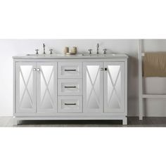 "Legion Furniture 60"" White Double Sink Vanity with Quartz Top - Free Shipping Today - Overstock.com - 19524577 - Mobile"