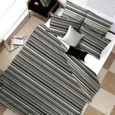 Hilton - Cotton Bed Set (Duvet Cover & 1 or 2 Pillow Cases) Cotton Bedding Sets, Bed Linen Sets, Duvet Bedding Sets, Linen Bedding, Geometric Bedding, Duvet Cover Design, Pillow Covers, Outdoor Blanket
