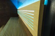 Sauna Perfect Line - wnętrze w kontrastowej kolorystyce. Relax, Wood, Glass, Inspiration, Design, Biblical Inspiration, Woodwind Instrument, Drinkware, Timber Wood