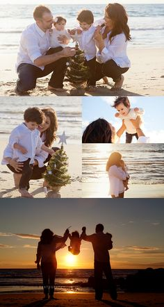 Christmas Family Photos at the beach. (Los Angeles)