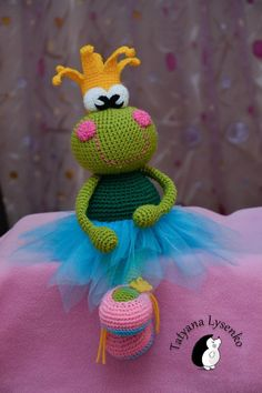 Crochet Pattern the princess frog van magicfilament op Etsy