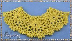 Crochet by Ellej Crochet Motifs, Crochet Stitches, Lace Tape, Knitting Stiches, Crochet Videos, Crochet Tutorials, Refashion, Collars, Crochet Earrings