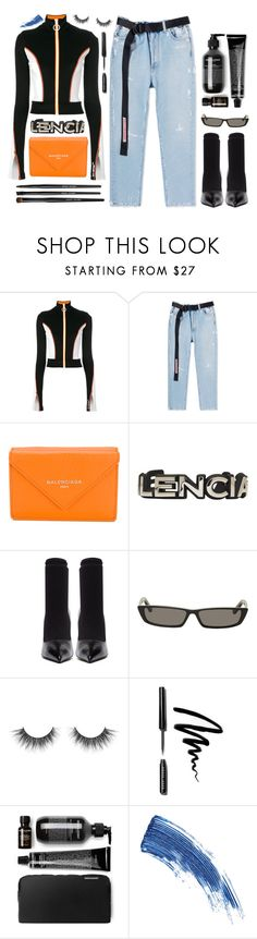 """""""Untitled #348"""" by zada ❤ liked on Polyvore featuring Off-White, Balenciaga, Bobbi Brown Cosmetics and Eyeko"""