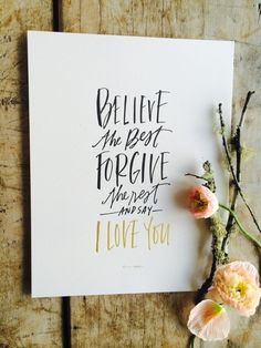 Believe the Best Art Print / Lindsay Letters