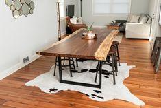 Custom Live Edge Acacia Dining Table by BDCDesignsOnline on Etsy https://www.etsy.com/listing/498690146/custom-live-edge-acacia-dining-table