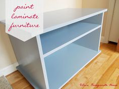 Love, Pomegranate House: How-to Paint Laminate Furniture - In 1990 I learned how to paint laminate from my maintenance man - because that is the only furniture I could afford. Now I paint all kinds of furniture because I love doing it. Join me Furniture Projects, Furniture Makeover, Home Projects, Home Crafts, Diy Furniture, Diy Home Decor, Antique Furniture, Playroom Furniture, Beach Crafts