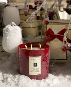 Jo Malone London | Frosted Cherry & Clove Deluxe Candle #FrostedFantasy
