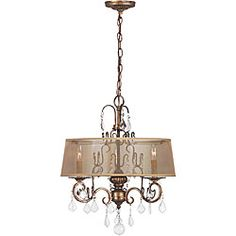 World Imports Belle Marie Collection 3-light Hanging Chandelier   Overstock.com Shopping - Great Deals on World Imports Chandeliers & Pendants
