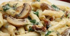 Creamy Penne Florentine With Mushrooms And Spinach