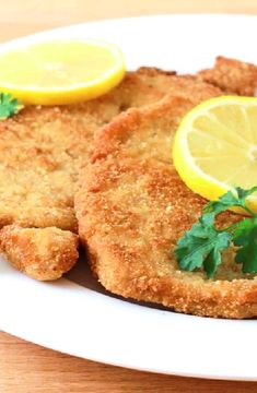schnitzel pork recipe traditional authentic - Must be served with a wedge of lemon. Traditionally this is made with veal.German schnitzel pork recipe traditional authentic - Must be served with a wedge of lemon. Traditionally this is made with veal. Schnitzel Recipes, Pork Schnitzel, Wiener Schnitzel, Pork Recipes, Cooking Recipes, Pork Cutlet Recipes, Cooking Pork, Pork Shnitzel Recipe, German Recipes