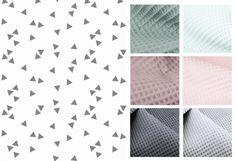 wieg-/ledikantdeken Triangle Grey