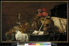 Inventarisnr: S 54  Simon Renard de Saint-Andre (Maker), Vanitas-stilleven  Datering: 17de eeuw Frans werk   afbeelding S 54.jpg van schilderij