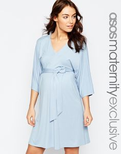 ASOS+Maternity+Jersey+Mini+Dress+with+Obi+Wrap+Belt