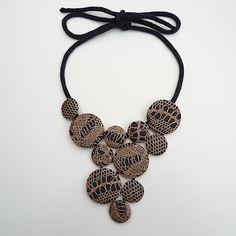 Crochet/Knit Button Necklace Inspiration.