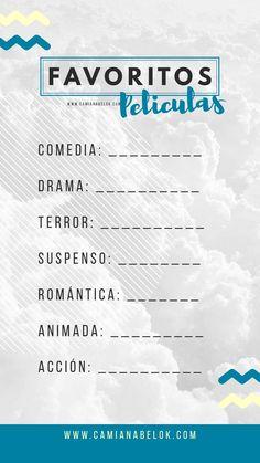 Mis favoritos - Juegos para las historias de instagram plantillas - Instagram story template - español - spanish