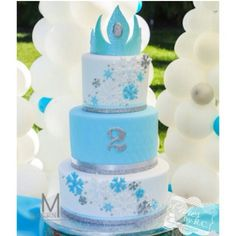 Disney frozen inspired cake