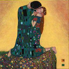 Gustav Klimt Kiss II http://wim-visscher.tumblr.com/