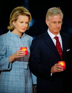 Belgian King Philippe and Queen Mathilde attend a First World War commemoration, in Ploegsteert, Belgium, 17.10.2014.