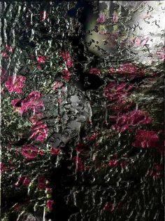 Flowers Painted On Mirror Glass Digital Art By Michael Hurwitz