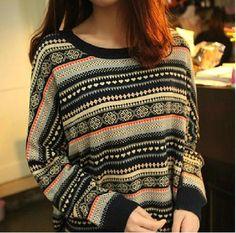 $33.00 | Retro Striped Pullover Sweater