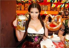 Oktoberfest (or Octoberfest) actually starts in September... it's one of the largest beer festivals in the world and wherever there's beer... there's also beautiful women.