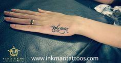 Mom Dad Tattoo | Tattoos | Marathi font | Aai Baba Tattoos | Wrist Tattoos | Hand Tattoos #tattoos #tattooshop #studio #training #classes #class #parlour