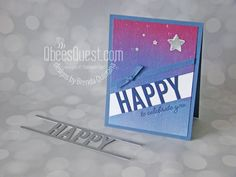 So Much Happy Congratulations Card - Stampin' Up, So Much Happy Stamp Set, Happy Dies, Artistry Blooms DSP (QbeesQuest, Brenda Quintana) 21 Cards, Kids Cards, Simple Birthday Cards, Die Cut Cards, Congratulations Card, Masculine Cards, Homemade Cards, Stampin Up Cards, Boy Birthday