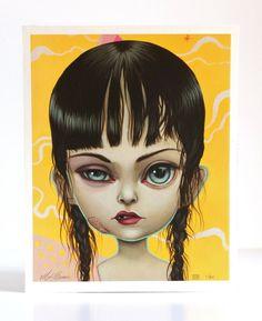 Toughie - édition limitée signée numérotée 8 x 10 lowbrow de pop surréalisme Fine Art Print par Mab Graves-sans cadre